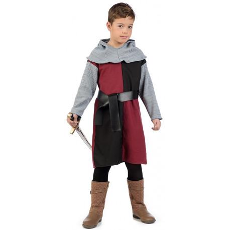 Disfraz de Caballero Cruzado Medieval Rojo Infantil