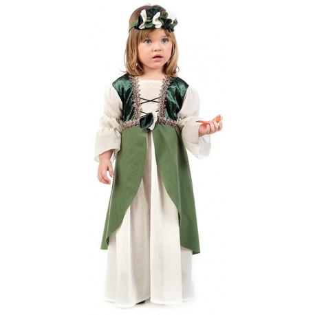 Disfraz de Clarisa Medieval Verde para Bebé