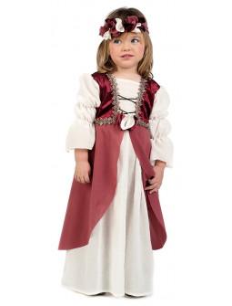 Disfraz de Clarisa Medieval Rosapara Bebé