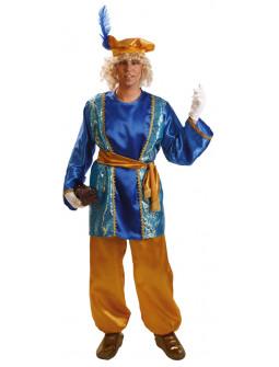 Disfraz de Paje Real Azul para Hombre