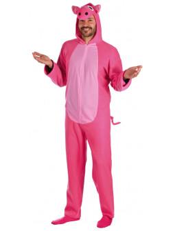 Disfraz de Cerdo Rosa para Adulto