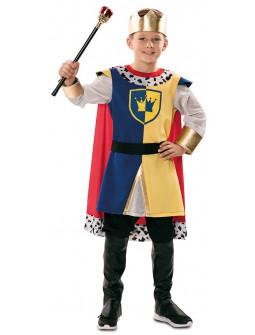 Disfraz de Rey Medieval con Capa para Niño