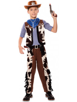 Disfraz de Vaquero Estampado Vaca para Niño