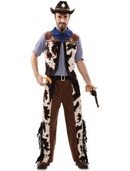Disfraz de Vaquero Estampado Vaca para Hombre