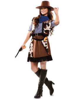 Disfraz de Vaquera Estampado Vaca para Mujer