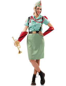 Disfraz de Legionaria Verde para Mujer