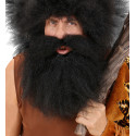 Peluca de Cavernícola Morena con Barba