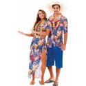 Disfraz de Hawaiana Azul para Adulto