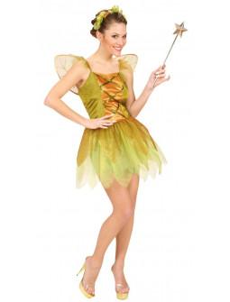 Disfraz de Hada Dorada del Bosque para Mujer