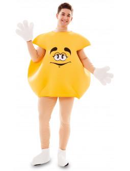 Disfraz de Caramalo m&m Amarillo para Adulto