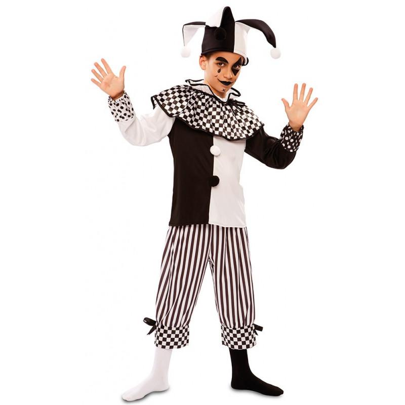 Disfraz de Arlequín Blanco y Negro para Niño  3e210758baa