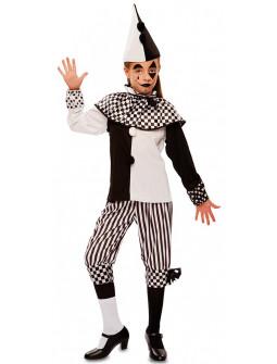 Disfraz de Arlequina Blanco y Negro para Niña