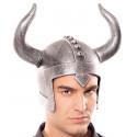 Casco Vikingo Efecto Metálico