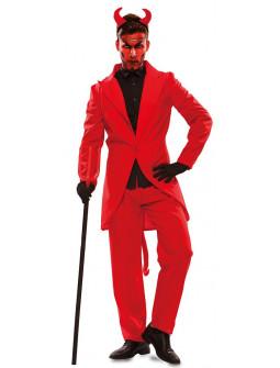 Disfraz de Diablo Elegante con Traje para Hombre