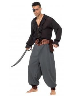 Pantalón de Pirata Ancho con Bolsita para Adulto