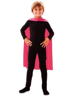 Capa de Superhéroe Rosa Infantil