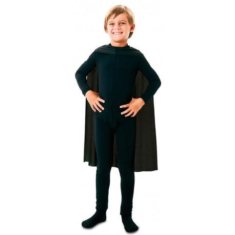 Capa de Superhéroe Negra Infantil