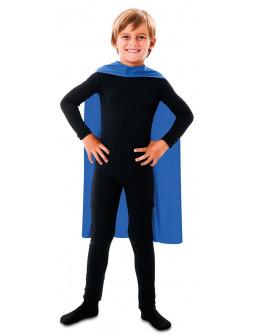 Capa de Superhéroe Azul Infantil