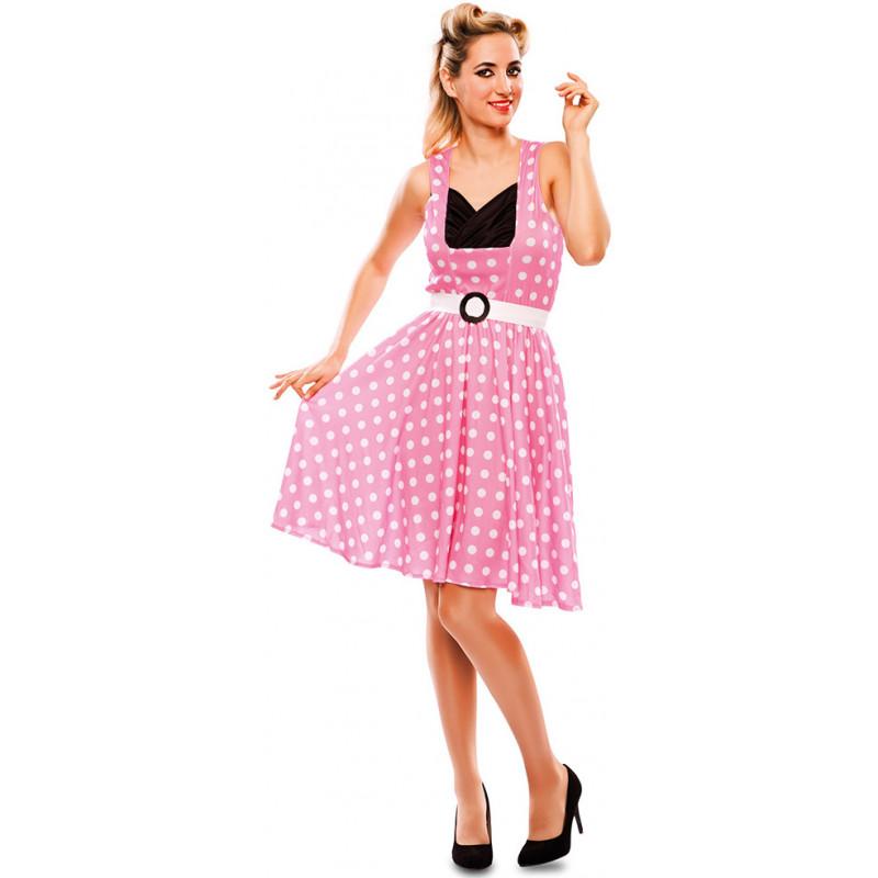 Disfraz Rosa Grease para Mujer  ac9310588ff