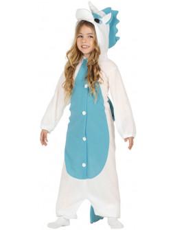 Disfraz de Unicornio Azul Pijama para Niña