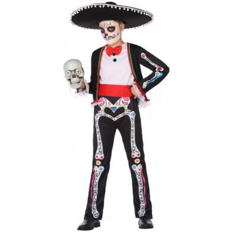 Disfraz de Día de los Muertos Mexicano para Niño