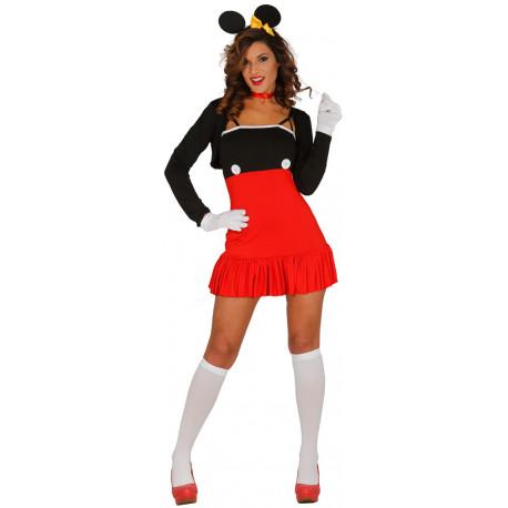 Disfraz de Ratoncito Mickey para Mujer