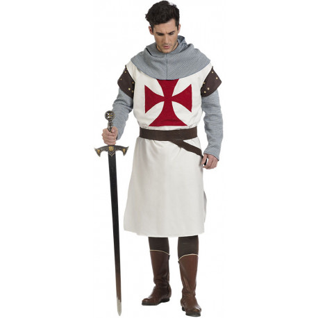 Disfraz de Caballero Templario Premium para Hombre
