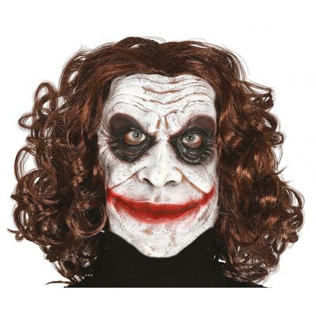 Máscara de Payaso Villano de Látex con Pelo