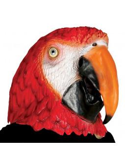 Máscara de Loro Rojo de Látex