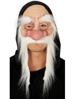 Máscara de Enanito de Látex con Pelo y Capucha