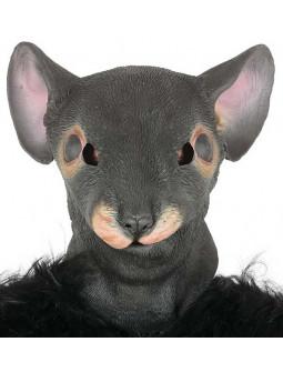 Máscara de Rata Gris de Látex