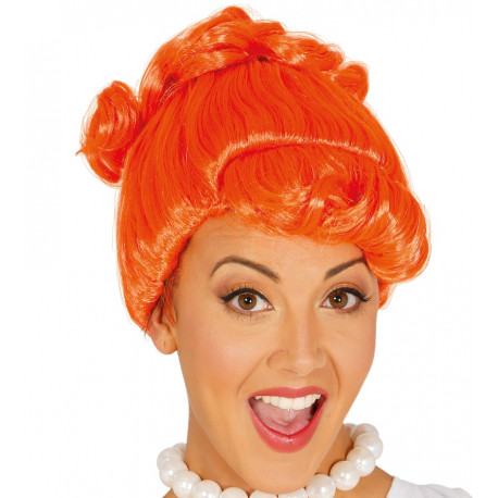 Peluca de Vilma Picapiedra Naranja