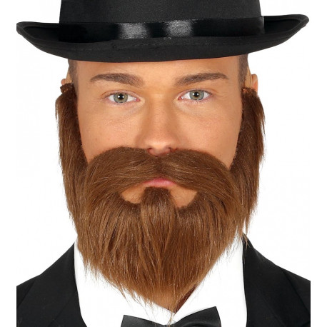 Barba Castaña con Bigote