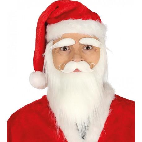Barba Blanca con Bigote y Cejas de Papá Noel