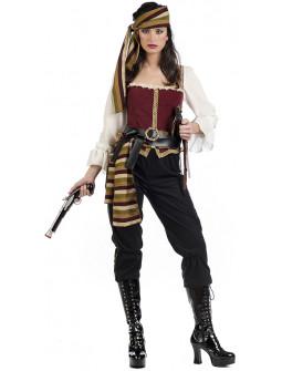 Disfraz de Pirata Bucanera con Pantalón