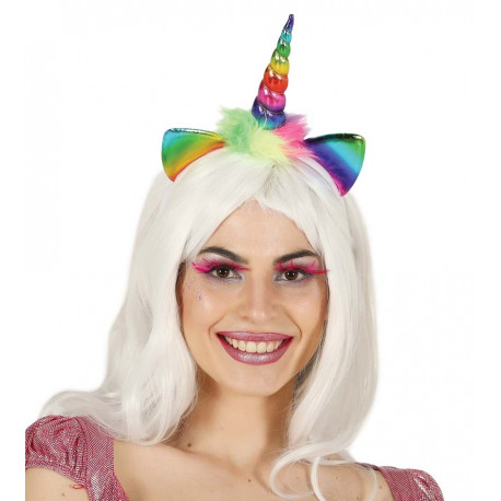 Diadema de Unicornio Arcoíris Infantil
