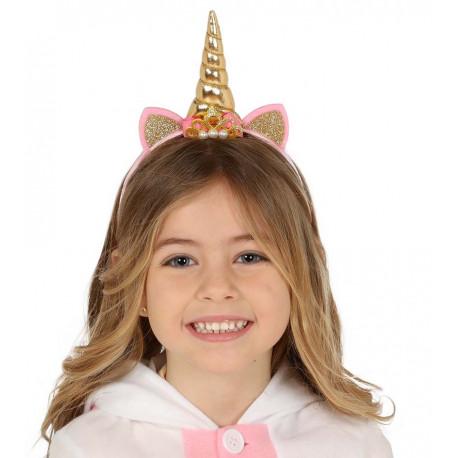 Diadema de Unicornio Dorada Infantil