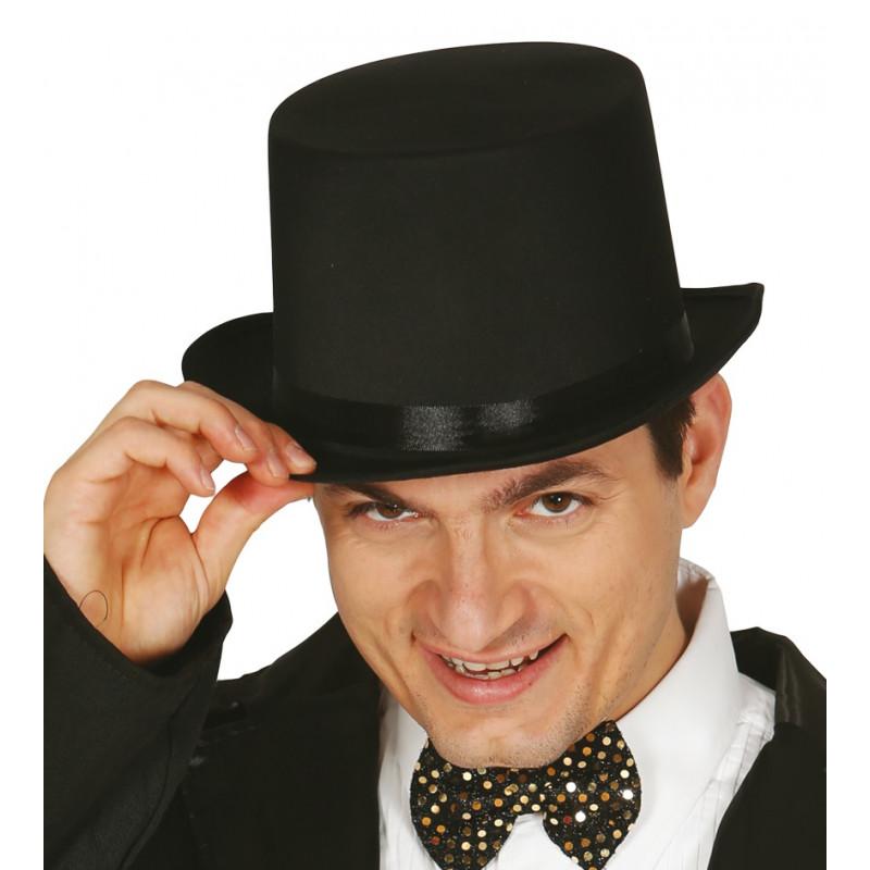 Sombrero de Copa Negro para Adulto  db9bdeb7662