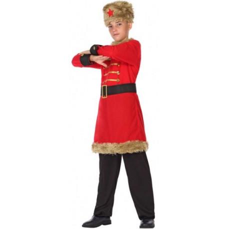 Disfraz de Ruso Comunista Rojo para Niño
