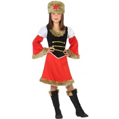 Disfraz de Rusa Comunista Rojo para Niña