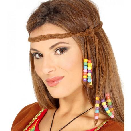 Cinta Hippie con Trenzas y Bolitas Multicolor