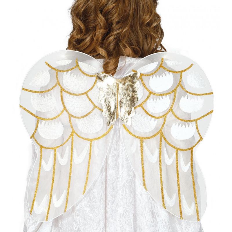 Alas De ángel Blancas Y Doradas Comprar Online