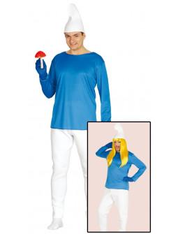 Disfraz de Pitufo Azul para Hombre