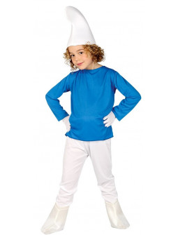 Disfraz de Pitufo Azul para Niño