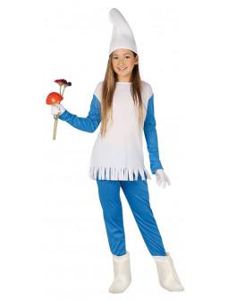 Disfraz de Pitufina Azul para Niña