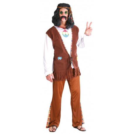Disfraz de Hippie Marrón para Hombre