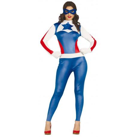 Disfraz de Capitán América para Mujer