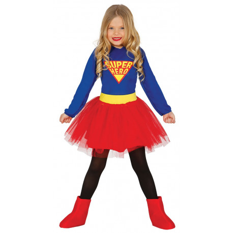 Disfraz de Super Niña con Tutú Infantil