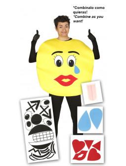 Disfraz de Emoticono con Múltiples Caras para Adulto
