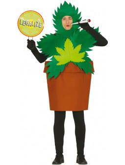 Disfraz de Planta de Marihuana para adulto